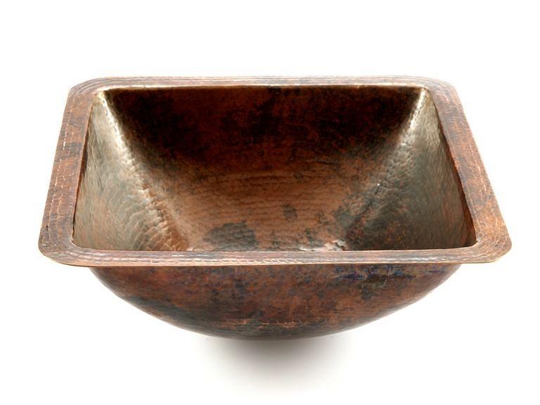 Vasque En Cuivre modesta-une lavabo encastré en cuivre